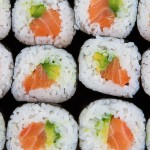 Salmon and avo sushi